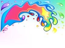 Multicolored splash Royalty Free Stock Image