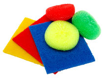 Multicolored Sponges For Dishes . Royalty Free Stock Images