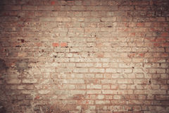 Wall of an old vintage brick Stock Photos