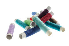 Multicolored Spools of Thread Stock Images