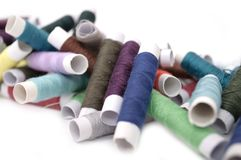 Multicolored Spools of Thread Stock Photo