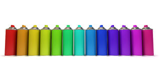 Multicolored sprays Stock Images