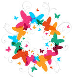 Multicolored Spring Butterfly design background Stock Photography