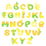 Multicolored spring vector alphabet Royalty Free Stock Photos