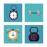 Multicolored square buttons set of elements for weight training. Vector illustration vector illustration