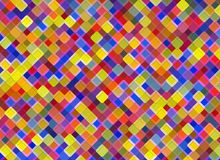 Multicolored square Shapes in Chaotic Arrangement. Holiday bokeh Royalty Free Stock Images