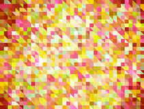 Multicolored square Shapes in Chaotic Arrangement. Holiday bokeh Stock Photography