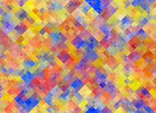 Multicolored square Shapes in Chaotic Arrangement. Holiday bokeh Royalty Free Stock Image