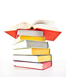 Multicolored stacked books Stock Photos