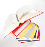 Multicolored stacked books Royalty Free Stock Image