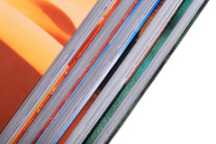 Multicolored stacked books Stock Photo