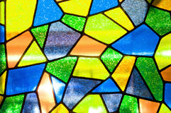Multicolored stained glass background. Close up Multicolored stained glass background Royalty Free Stock Photography