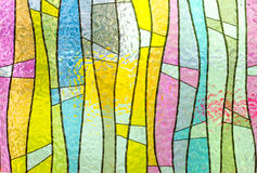 Multicolored stained glass church window portrait orientation Royalty Free Stock Image