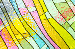Multicolored stained glass church window portrait orientation Royalty Free Stock Photography