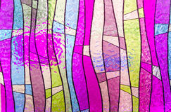Multicolored stained glass church window portrait orientation Royalty Free Stock Photos