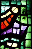 Multicolored stained glass window Stock Images