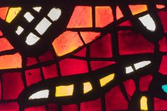 Multicolored stained glass window. Royalty Free Stock Photos