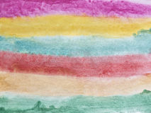 Multicolored stains watercolor painting as a background Royalty Free Stock Image