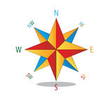 Multicolored star compass. Stock Images