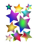 Multicolored stars Stock Image