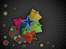 Multicolored stars background Royalty Free Stock Photo