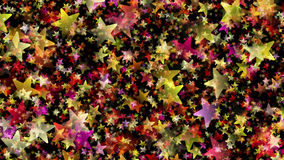 MultiColored Stars on Black Background. 2D rendered image with stars and gradient effect Royalty Free Stock Photos