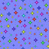 Multicolored stars on blue Royalty Free Stock Photography