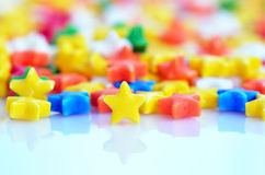 Multicolored stars candy Stock Photo