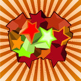 Multicolored stars and lines. A background of lines and multicolored stars Royalty Free Stock Images