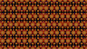 Multicolored Stars Motif Pattern. Stock Image
