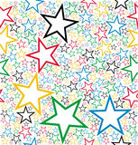 Multicolored stars seamless pattern Royalty Free Stock Image