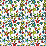 Multicolored stars. Seamless vector pattern background. Royalty Free Stock Photography