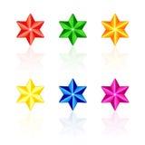 Multicolored sterren Stock Foto's