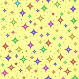 Multicolored sterren, naadloos patroon stock illustratie