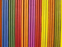 Multicolored stick. Column of multi colored stick Stock Photo