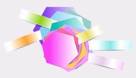 Multicolored sticker, label, design element Stock Image