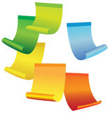 Multicolored stickers. Set of multicolored stickers. Vector Stock Image