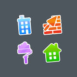 Multicolored Stickers Construction Icons Royalty Free Stock Image