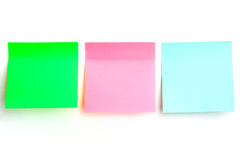 Multicolored stickers for notes Stock Images