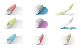 Multicolored stickers set Royalty Free Stock Image