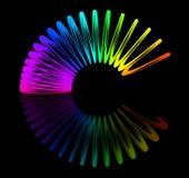 Multicolored stiekem Stock Foto