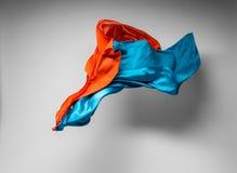Multicolored stof in motie Stock Foto