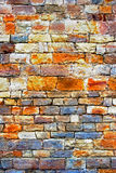 Multicolored stone and rough wall Stock Image
