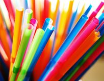 Multicolored straws Royalty Free Stock Image