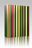 Multicolored streaks box package Royalty Free Stock Images