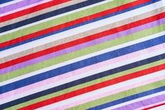 Multicolored strepenstof Stock Foto's