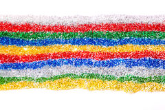 Multicolored stripe of glittered gel Royalty Free Stock Images