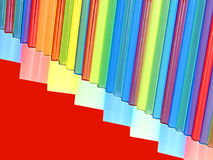 Multicolored striped abstract background with empty space. Royalty Free Stock Photo