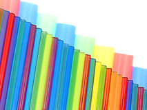 Multicolored striped background with empty space. Royalty Free Stock Images