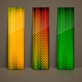 Multicolored striped banners Royalty Free Stock Photography